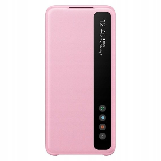 Oryginalne Etui do Samsung Galaxy S20 - Clear View Cover - Pink