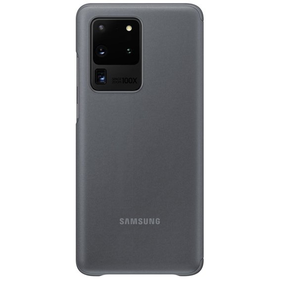 Oryginalne Etui do Samsung Galaxy S20 Ultra - Clear View Cover - Gray