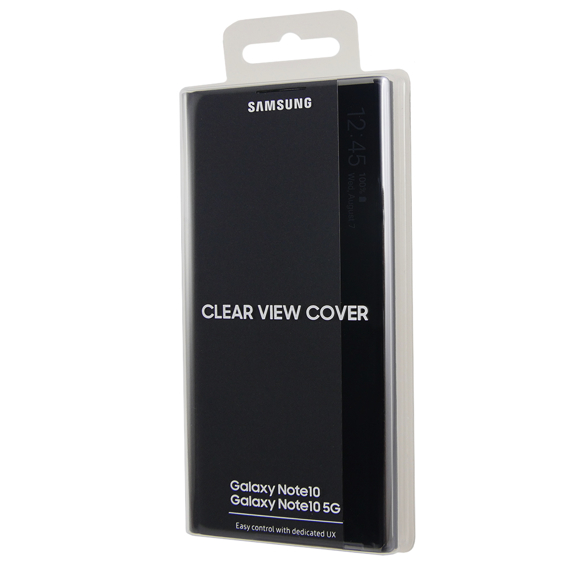 Oryginalne Etui do Samsung Galaxy Note 10 - Clear View Cover - Black
