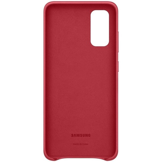 Oryginalne Skórzane Etui Samsung Galaxy S20 - Leather Cover - Red