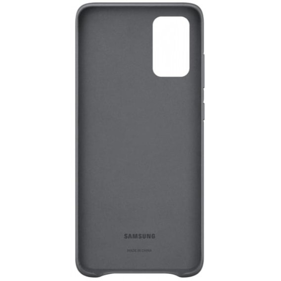 Oryginalne Skórzane Etui Samsung Galaxy S20+ Plus - Leather Cover - Grey