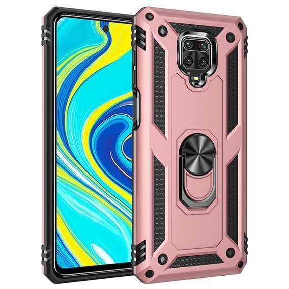 Pancerne Etui ERBORD NOX do Xiaomi Redmi Note 9S/9 Pro - Rose Gold