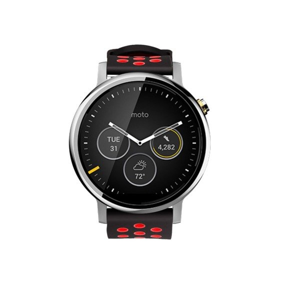 Pasek Hollow 22mm z klamrą do Galaxy Watch 46mm/Huawei Watch GT - black/red
