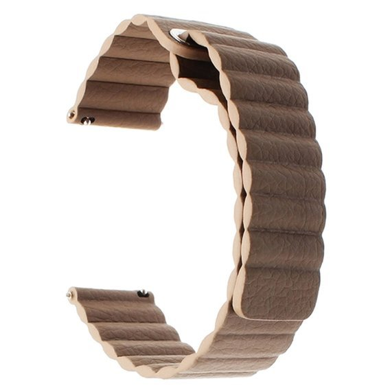 Pasek Leather Magnetic Buckle z teleskopem 22mm - Brown
