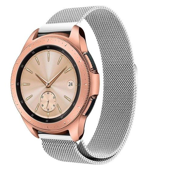 Pasek Luxury Milanese do Samsung Galaxy Watch 46mm - Silver