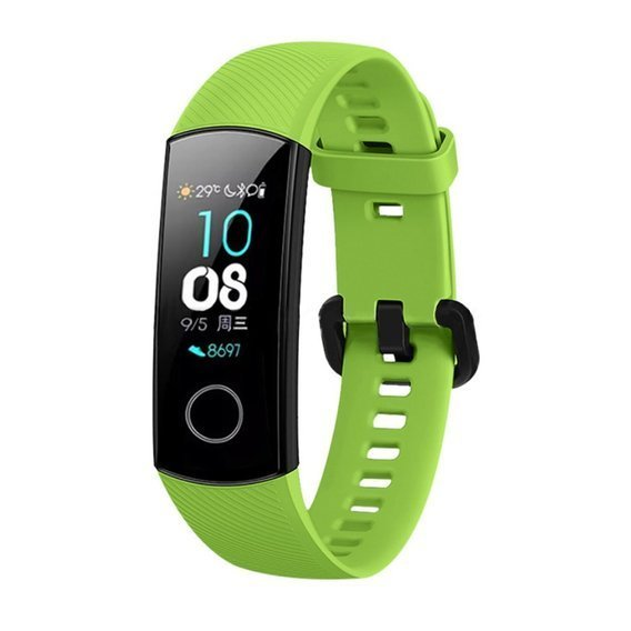 Pasek Silikonowy do Huawei Honor Band 5 - Green
