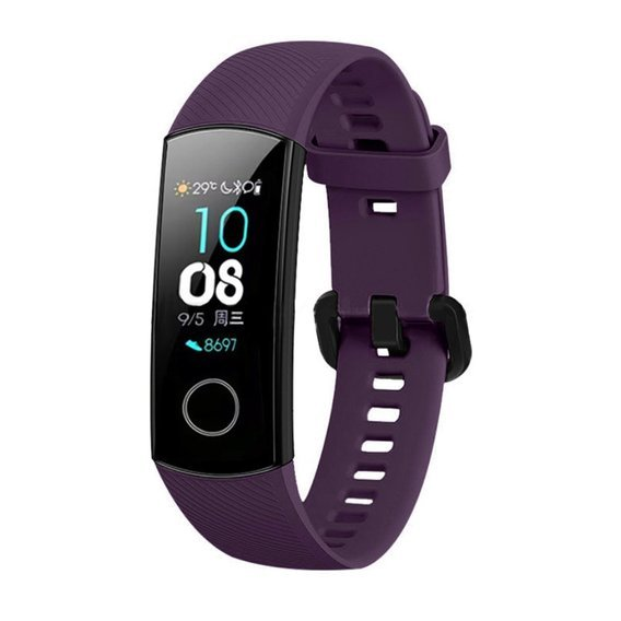 Pasek Silikonowy do Huawei Honor Band 5 - Purple