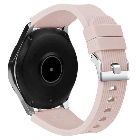 Pasek Silikonowy do Samsung Galaxy Watch 46mm (linia prosta) - light pink