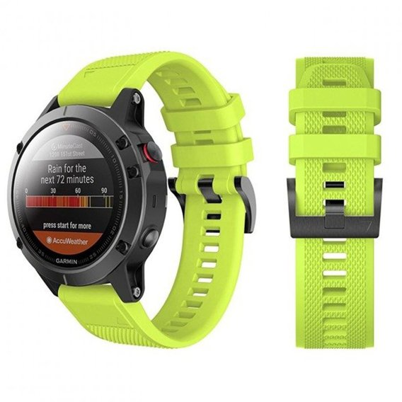 Pasek Smooth TPU do Garmin Fenix 5 (22mm) - Green