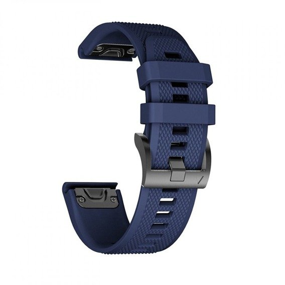 Pasek Silikonowy do Garmin Fenix 5/6/6 Pro (22mm) - Navy Blue