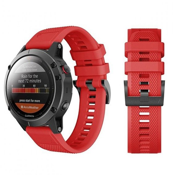 Pasek Smooth TPU do Garmin Fenix 5 (22mm) - Red