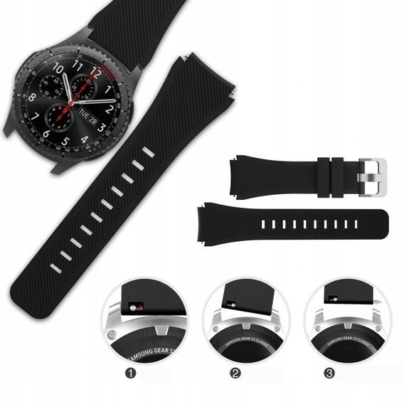 Pasek Smoothband do Samsung Galaxy Watch 46mm - Black