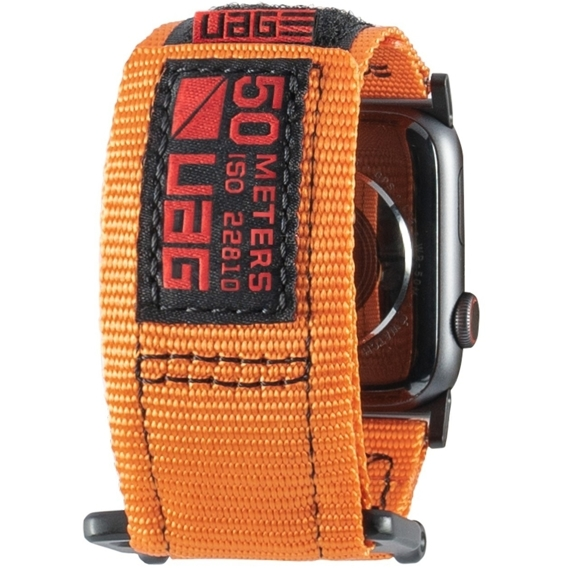 Pasek Urban Armor Gear do Apple Watch 1/2/3/5/4 42/44MM - Active Strap Pasek - Orange