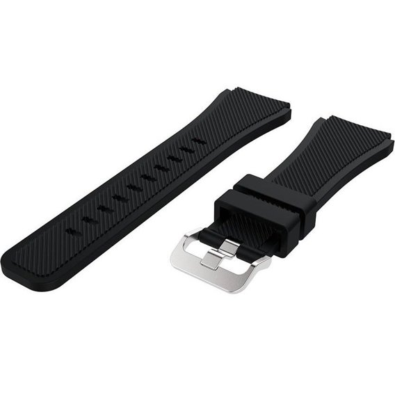 Pasek gumowy Twill do Galaxy Watch 46mm/Huawei Watch GT - Black