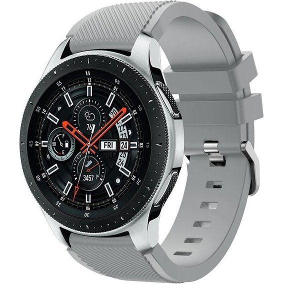 Pasek gumowy Twill do Galaxy Watch 46mm/Huawei Watch GT - Grey