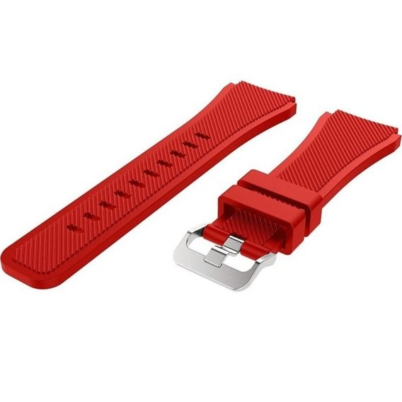 Pasek gumowy Twill do Galaxy Watch 46mm/Huawei Watch GT - Red