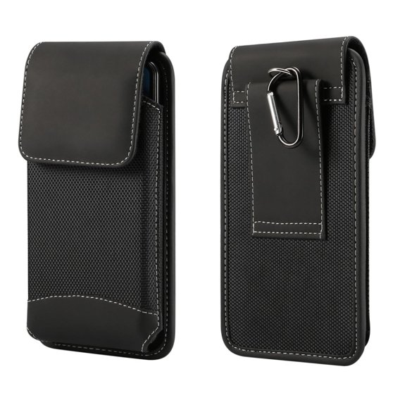 Pionowa Kabura Oxford Cloth do Telefonów 5.5 cala  - Black