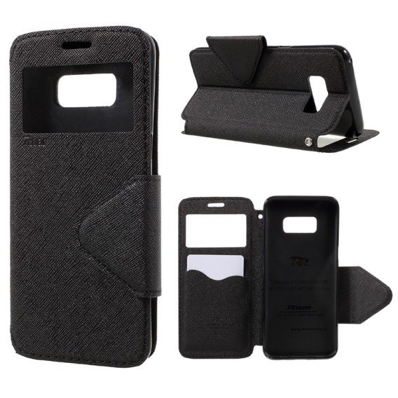 ROAR KOREA Etui Diary View Case Samsung Galaxy S8 - Black