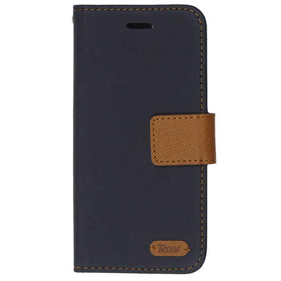ROAR KOREA Etui Simply Life Diary iPhone 8/7 4.7 - Dark Blue