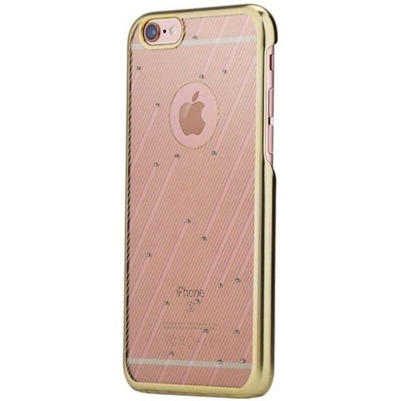 ROCK Etui Meteor Shower Bumper + PC Back iPhone 6/6S 4.7 - Champagne Gold