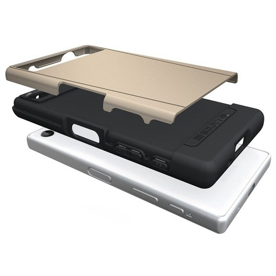 SHTL Etui Dual Shell Sony Xperia Z5 Compact - Gold
