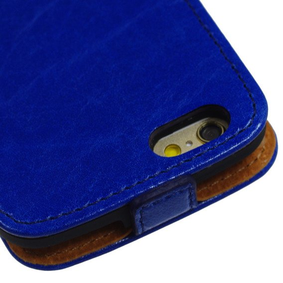 SHTL Etui Genuine Leather Flip Case iPhone 6/6s 4.7 - Blue Peacock made with Swarovski Elements