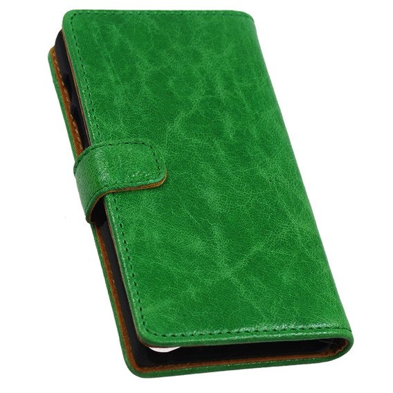 SHTL Etui Genuine Leather Wallet Case Sony Xperia Z5 Compact - Green