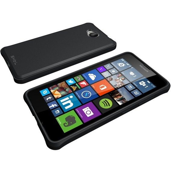 SHTL Etui Strong Edges Smooth Case Microsoft Lumia 650 - Black