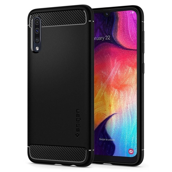 SPIGEN Etui Rugged Armor Samsung Galaxy A50 / A30s - Black