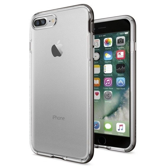 SPIGEN SGP Etui Neo Hybrid Crystal iPhone 8/7 Plus 5.5 - Gunmetal