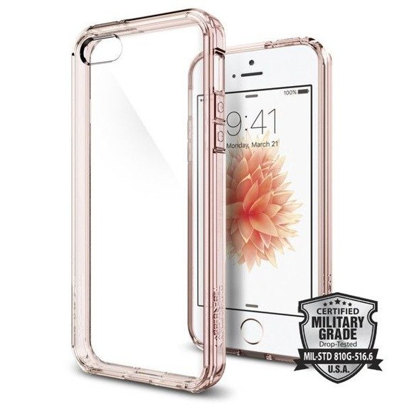 SPIGEN SGP Etui Ultra Hybrid iPhone 5 5S SE - Rose Gold
