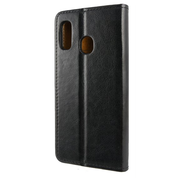 Skórzane Etui Leather Flexi Book Samsung Galaxy A20e - Black
