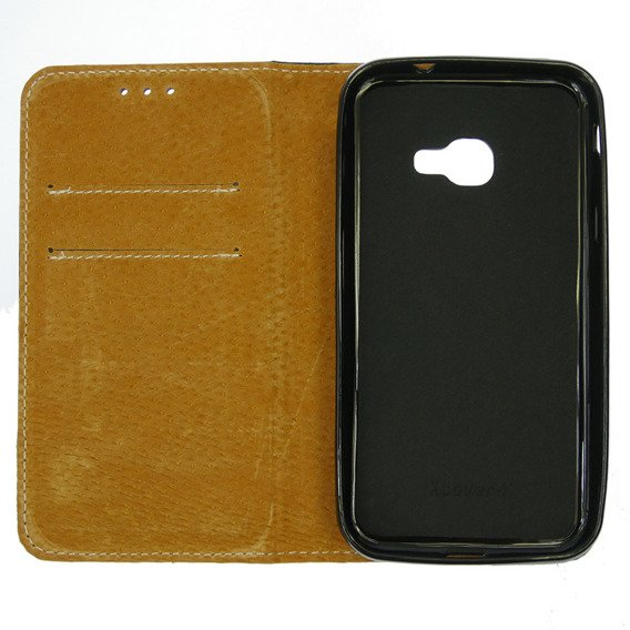 Skórzane Etui Leather Flexi Book Samsung Galaxy Xcover 4/4S - Black