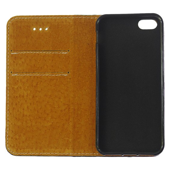 Skórzane Etui Leather Flexi Book iPhone 5 / 5S / SE - Black