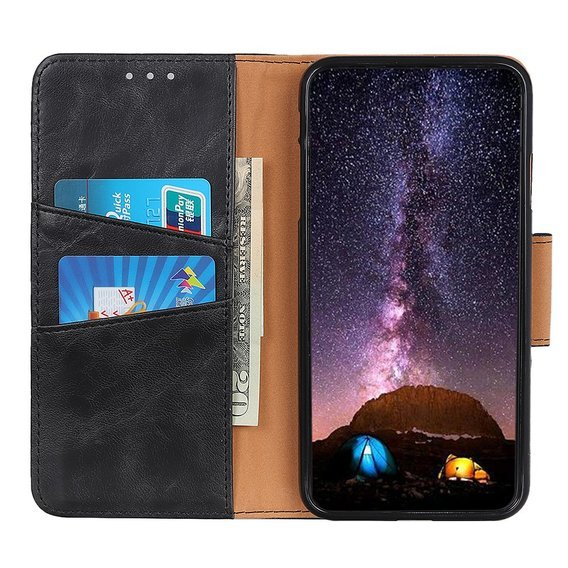 Skórzane Etui Wallet Flexi Book do Huawei Y6P - Black