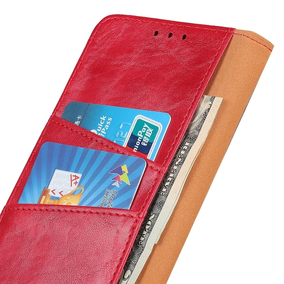 Skórzane Etui Wallet Flexi Book do Xiaomi Mi 9T / Mi 9T Pro - Red
