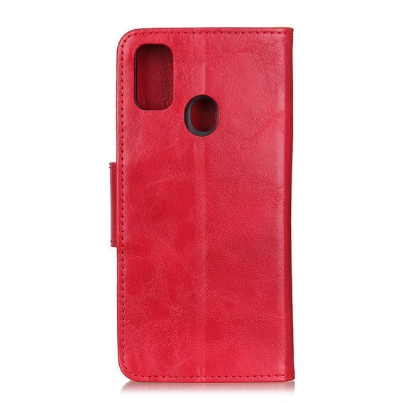 Skórzane Etui Wallet do Huawei Honor 9X Lite - Red