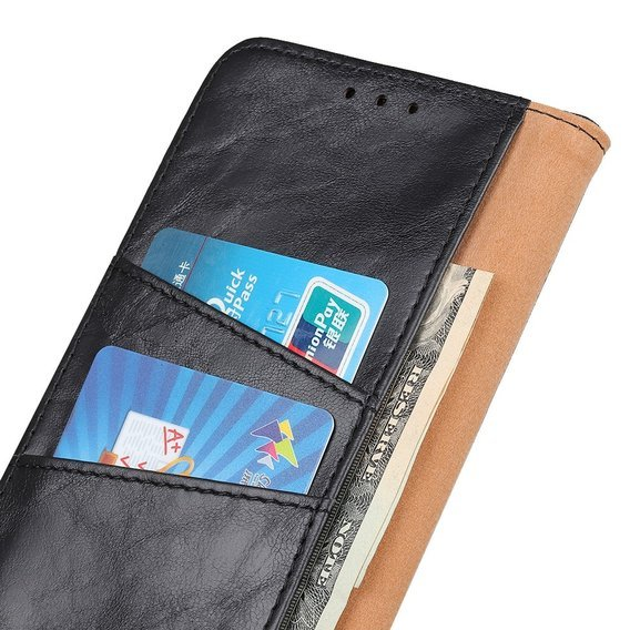 Skórzane Etui Wallet do Huawei P40 Lite E - Black