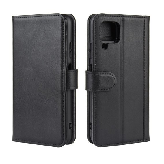 Skórzane Etui Wallet do Huawei P40 Lite, Split Leather, Black