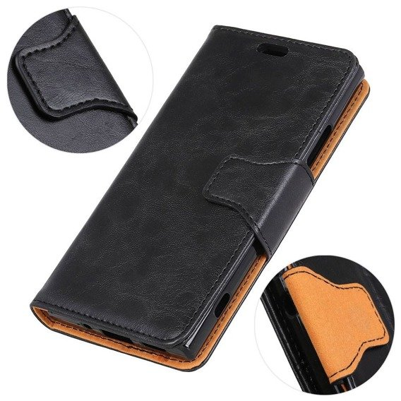 Skórzane Etui Wallet do Huawei Y7 2019, Black