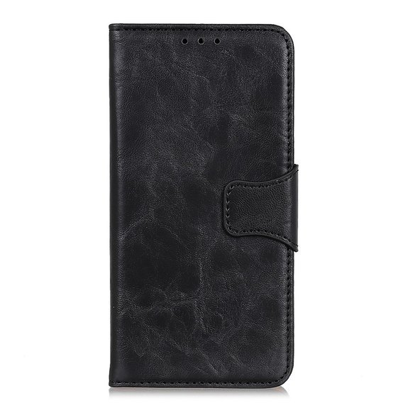 Skórzane Etui Wallet do Motorola Moto G 5G Plus - Black