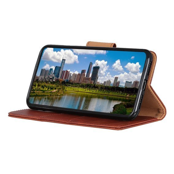 Skórzane Etui Wallet do OnePlus Nord - Brown