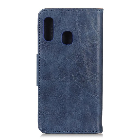 Skórzane Etui Wallet  do Samsung Galaxy A20E - Blue