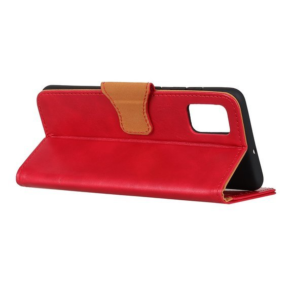 Skórzane Etui Wallet do Samsung Galaxy A41 - Red