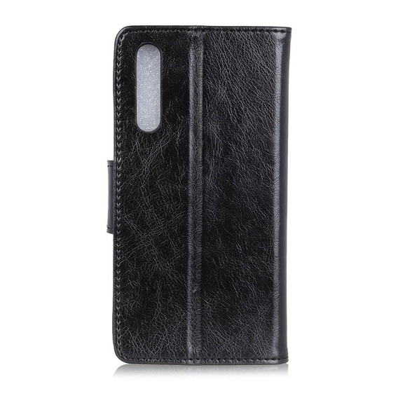 Skórzane Etui Wallet do Samsung Galaxy A70, Nappa Texture, Black