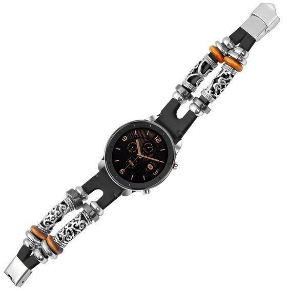 Skórzany Pasek Retro do Samsung Galaxy Watch 42mm - Black