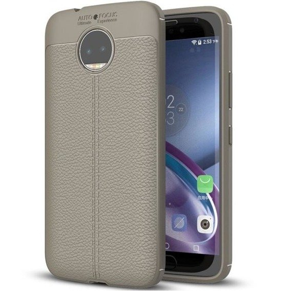 Szare Etui Football Grain TPU Case Motorola Moto G5S Plus