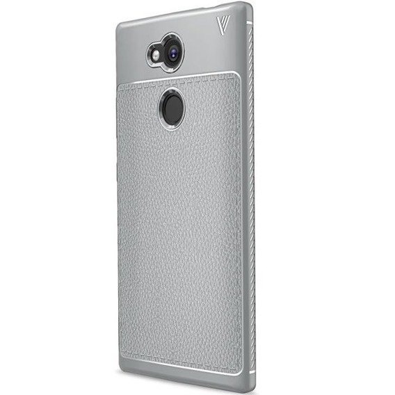 Szare Etui Football Grain TPU Case Sony Xperia L2