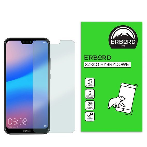 Szkło hybrydowe  ERBORD Flexible Glass do Huawei P20 Lite