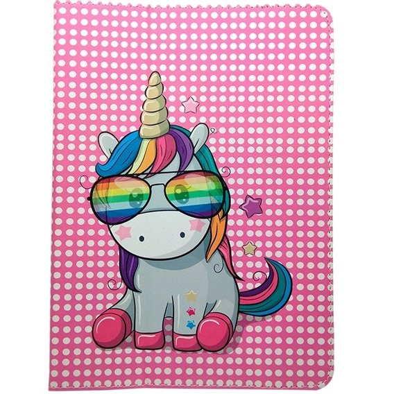 "Uniwersalne Etui na Tablet 7-8"" - Rainbow Unicorn"